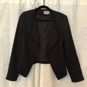 LOFT raw edge cropped blazer